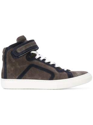 Pierre Hardy color blocked hi-top trainers