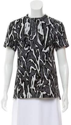 Proenza Schouler Textured Short Sleeve Top