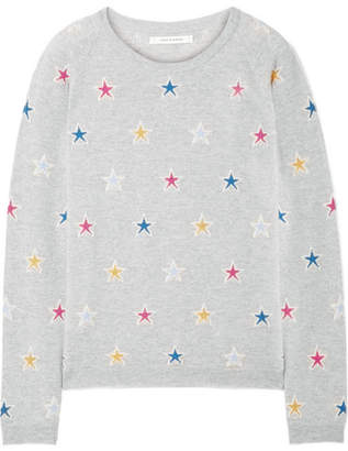 Chinti and Parker Acid Star Cashmere Sweater - Gray