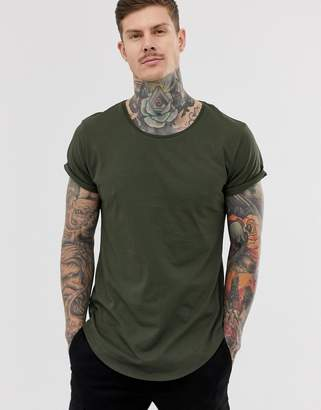 G Star G-Star Vontoni long line t-shirt in green