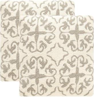 Safavieh Set Of 2 Moroccan-Hooked Indoor/Outdoor Pillows