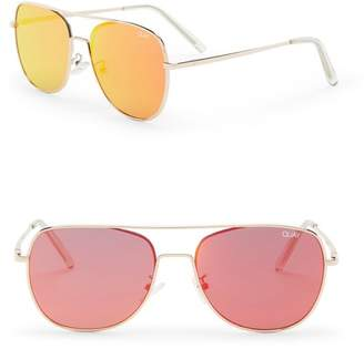 Quay Running Riot 50mm Aviator Sunglasses