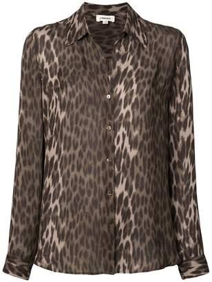 L'Agence leopard print shirt