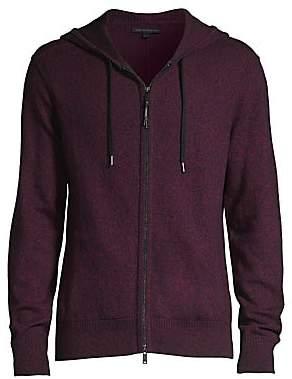 John Varvatos Men's Richmond Long-Sleeve Marled Wool-Blend Zip Hoodie
