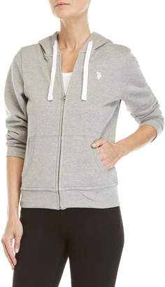 U.S. Polo Assn. Basic Zip-Up Fleece Hoodie