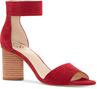 Vince Camuto Jacon Two-Piece Cylinder-Heel Sandals $110 thestylecure.com