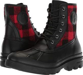Polo Ralph Lauren Men's UDEL Fashion Boot Black/red