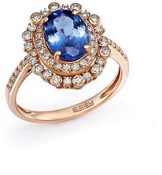 Bloomingdale's Tanzanite and Diamond Statement Ring in 14K Rose Gold - 100% Exclusive