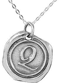 QVC Sterling Silver Initial Pendant with Chain