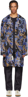 Marni Dance Bunny Multicolor Camo Oversized Hooded Coat