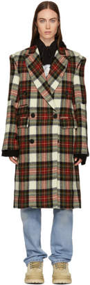 R 13 Red and WhiteCheck Kendall Coat