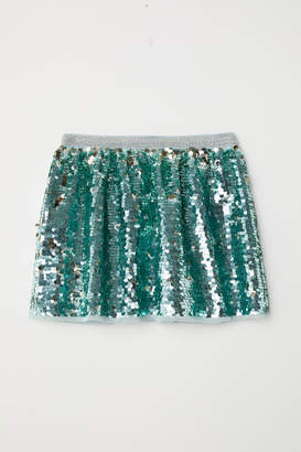 H&M Sequined Skirt - Turquoise