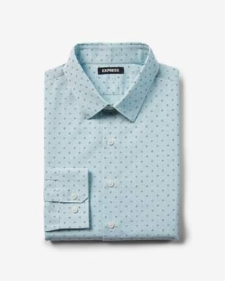 Express Classic Micro Dot Print Dress Shirt