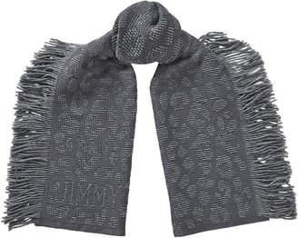 Jimmy Choo JAMIE H68083250 Grey Wool Scarf