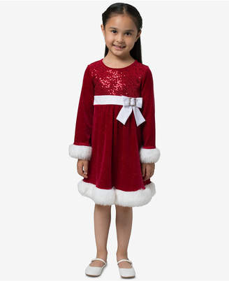 Bonnie Jean Little Girls Santa Dress