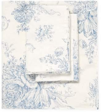 Melange Home Toile Linen Blend Hemstitch Sheet Set