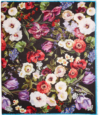 Dolce & Gabbana Multicolor Cashmere Flower Scarf