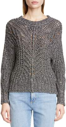 Isabel Marant Metallic Cable Knit Sweater
