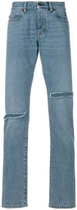 Saint Laurent distressed low-rise jeans