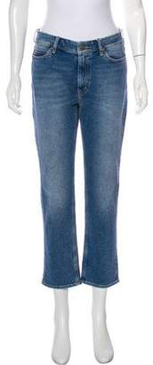 MiH Jeans Distressed Mid-Rise Straight-Leg Jeans w/ Tags