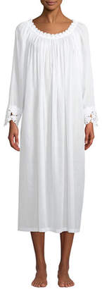 Celestine Princesa Floral-Applique Long-Sleeve Nightgown