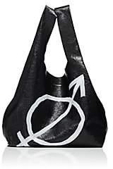 Balenciaga Women's Arena Leather Supermarket Shopper Tote Bag - Black