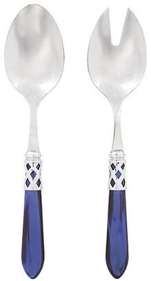 Vietri Set of 2 Aladdin Salad Servers - Blue