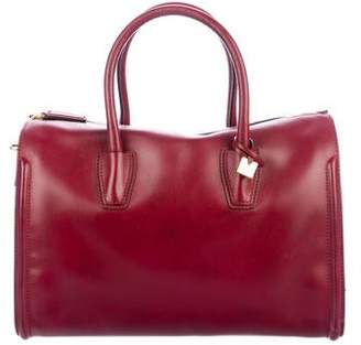 MCM Smooth Leather Satchel