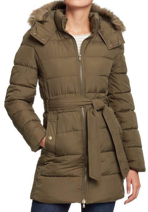 Old Navy Women's Long Belted Frost Free Coats