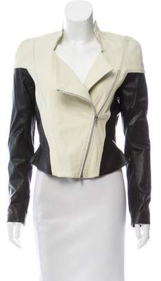 Ohne Titel Leather Colorblock Jacket