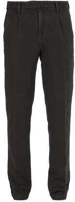 Massimo Alba Cotton And Cashmere Blend Trousers - Mens - Charcoal