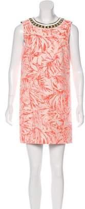 Matthew Williamson Mini Sleeveless Floral Print Dress w/ Tags