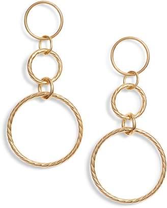 Argentovivo Triple Drop Rope Earrings