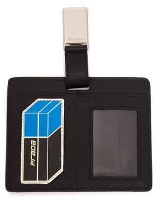 Prada - Saffiano Leather Clip On Cardholder Badge - Mens - Black Blue
