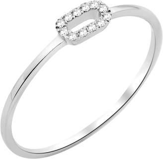 Miore Women's Ring 9-Carat 375 White Gold Diamond Carat MY028R0-T50