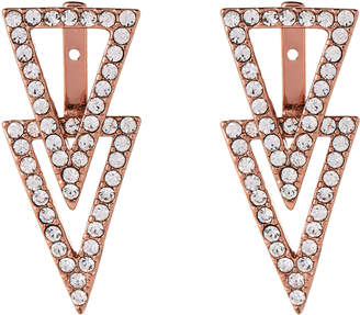 Vince Camuto Rose Gold-Tone Triangle Earrings