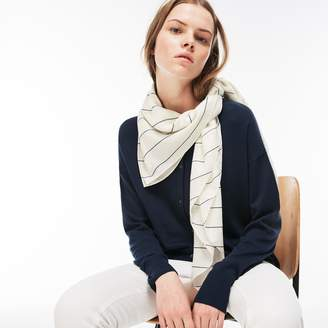 Lacoste Women's Striped Square Voile Scarf