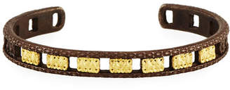 Armenta Old World Midnight Open Carved Cuff Bracelet