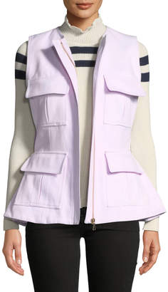 Maggie Marilyn So Glad We Made It Zip-Front Peplum Utility Vest