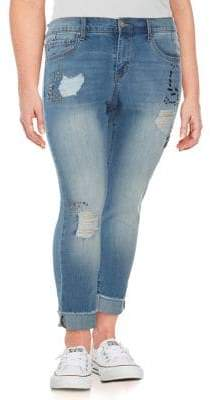 Jessica Simpson Plus Mika Best Friend Embellished Jeans