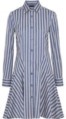 Derek Lam Striped Cotton-jacquard Shirt Dress