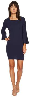 J.o.a. Bell Sleeve Fitted Knit Dress Women's Dress