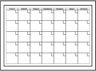Brewster Wall Wall Pops Peel & Stick White Board with Marker Monthly Calendar Decals