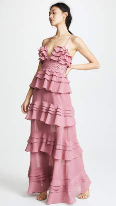 Glamorous True Decadence Ruffle Gown