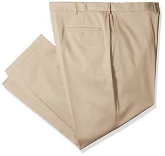 Haggar Men's B&t Premium No Iron Classic Fit Flat Front Casual Pant