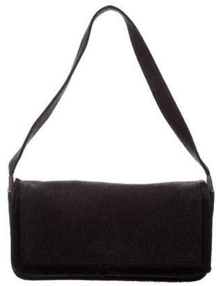 Sergio Rossi Ponyhair Trimmed Wool Bag