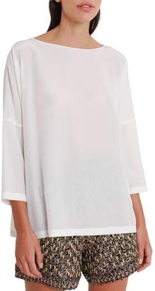 M Missoni White Silk Blouse