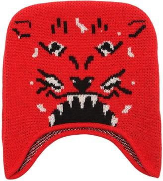 Gucci Tiger Intarsia Wool Knit Hat