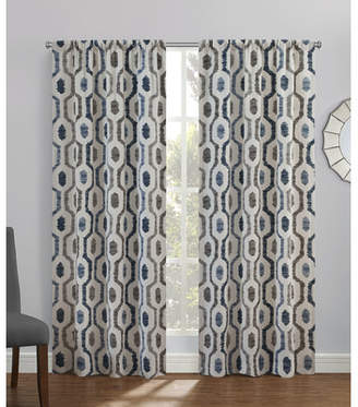Williston Forge Chism Geometric Semi-Sheer Rod Pocket Curtain Panels