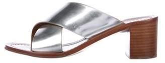 Tory Burch Metallic Block Heel Sandals